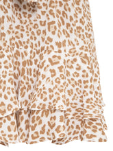 Zion Leopard Tie Front Mini Dress