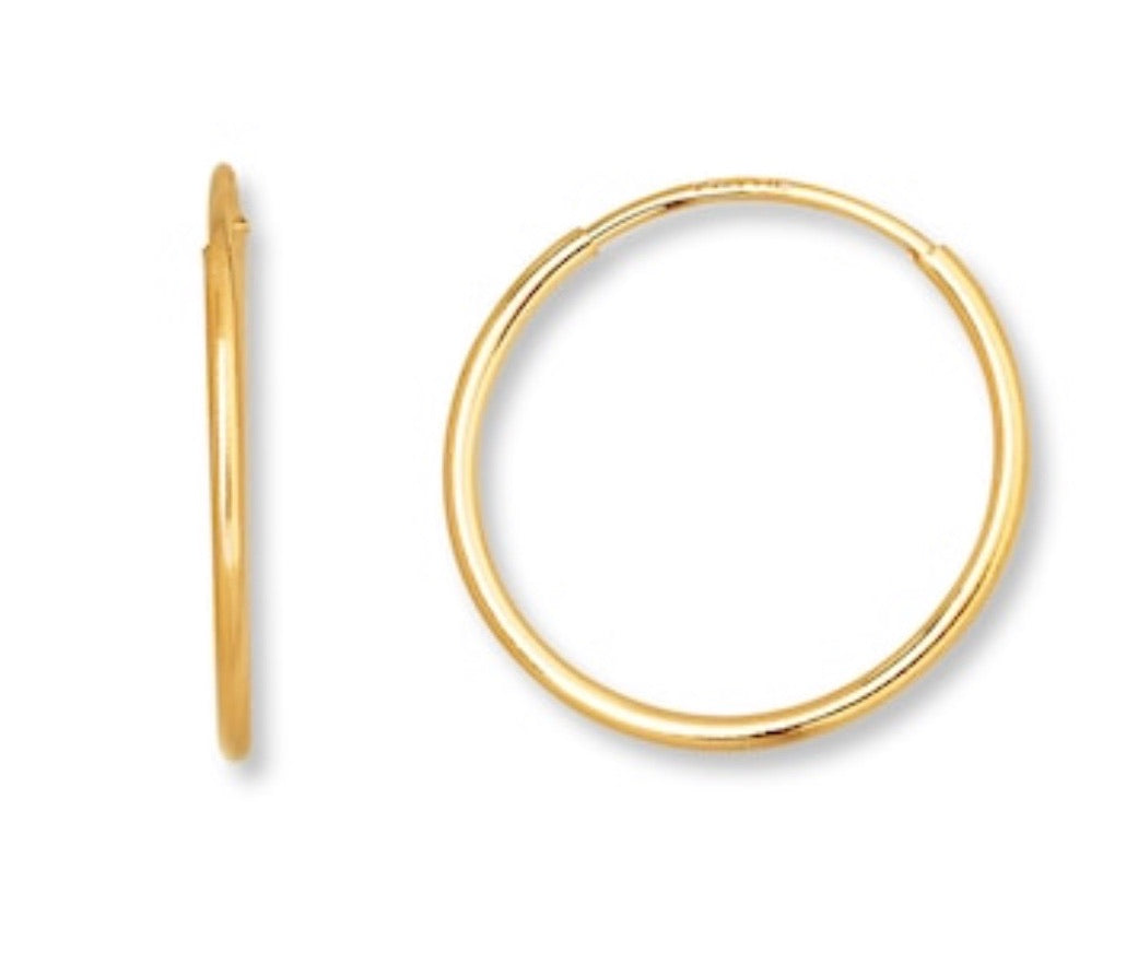 Mini Gold Endless Hoops (12 mm)
