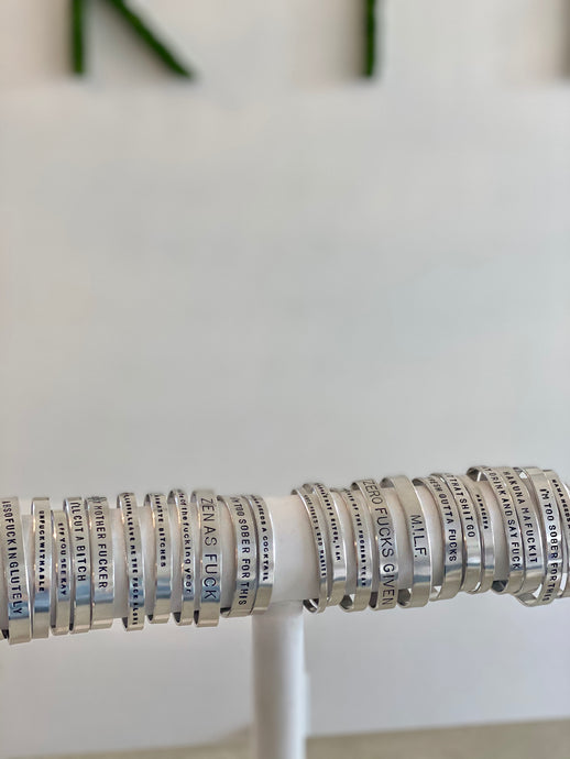 GH Silver Stamped Bangle