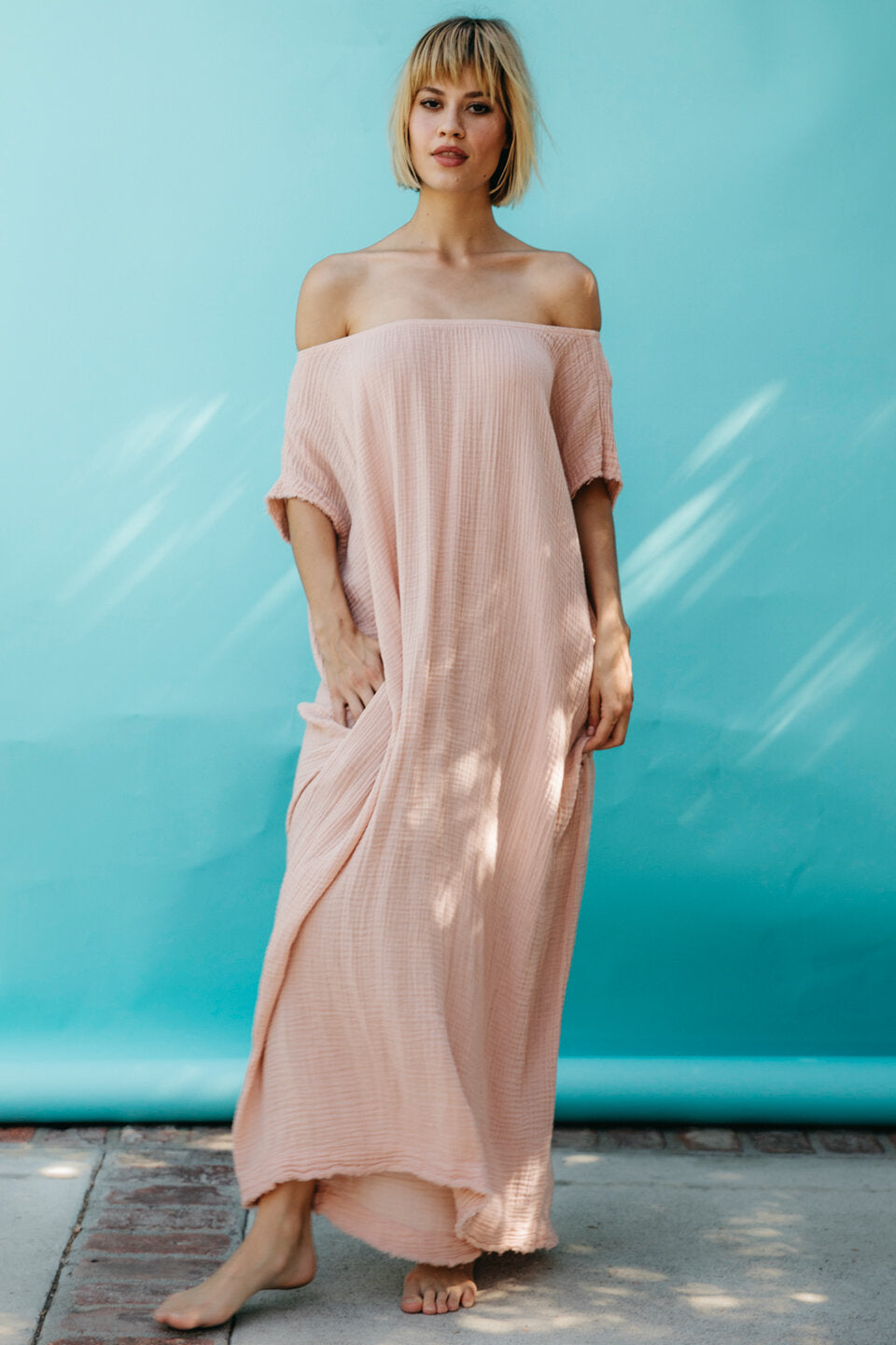 Off Shoulder Caftan