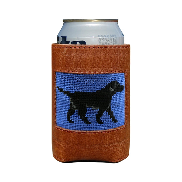 Black Lab Needlepoint Can Cooler