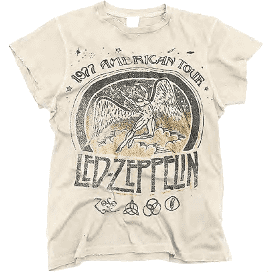 Led Zeppelin 1977 Crew Tee