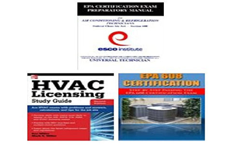 HVAC Licensing Study Guide Book Bundle