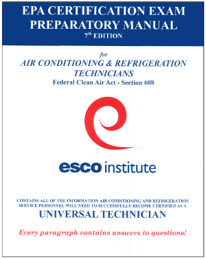 EPA Section 608 Certification Exam Preparatory Manual