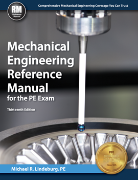 Mechanical Engineering Reference Manual for the PE Exam (MERM13P), 13th Edition