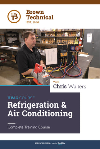 Refrigeration and Air Conditioning Online Training Course + ESCO EPA Exam Guide Book and Brown Duct Calculator