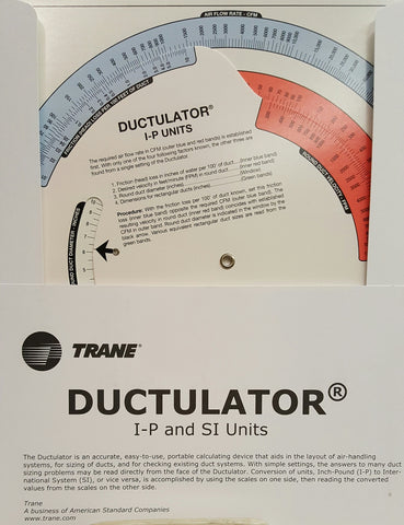 Trane Ductulator® (2011) Dual units (IP/SI)