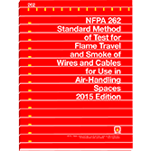 NFPA 262: Standard Method of Test for Flame Travel and Smoke of Wires and Cables for Use in Air-Handling Spaces, 2015 Edition
