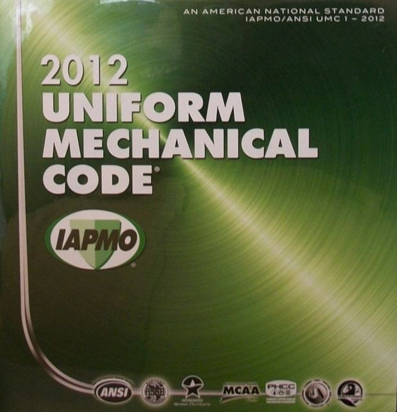 Uniform Mechanical Code 2012 Looseleaf