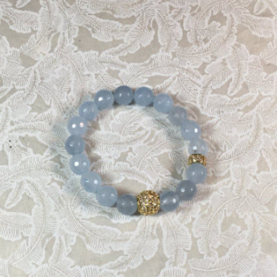 Apatite and Pave Stretch Bracelet
