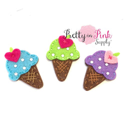 Ice Cream Cone Rhinestone Felts
