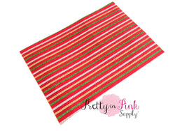 Holiday Glitter Striped FELT Sheet
