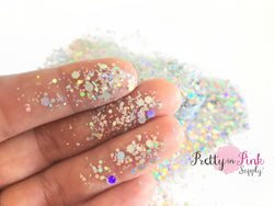 Silver Holographic Chunky/Fine MIX Loose Glitter