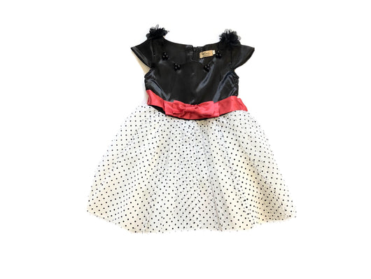 Satin Tulle Polka Dot Dress