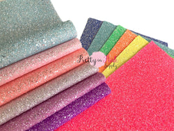 FROSTED Chunky Glitter Fabric Sheets
