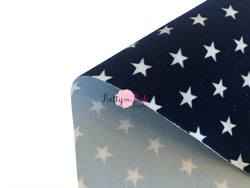 Lightweight Navy White Star Velvet Sheet