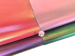 IRIDESCENT Metallic Soft Faux Sheet