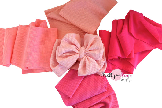 DIY PRETTY IN PINK 5  Head Wrap SOLID Strip Variety Pack