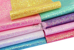 IRIDESCENT Chunky Glitter Patent Leather Sheets