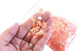 Orange Iridescent Flake Loose Glitter