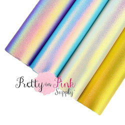 Pearl Iridescent Faux Leather Sheet