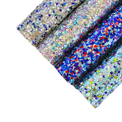MIXED Chunky Glitter Sheets