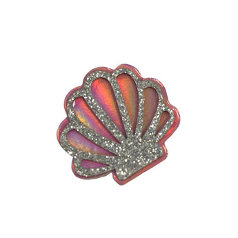 Holographic Sea Shell Glitter Felt