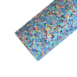 Bright Blue Black Mixed Chunky Glitter Sheets