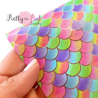 Rainbow SCALE Mermaid Jelly Sheet
