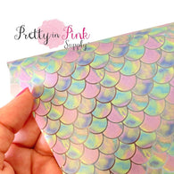 Watercolor Pastel Scale Jelly Sheet