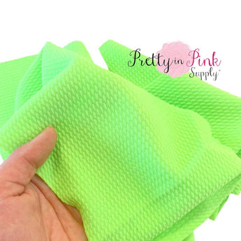 Neon Lime Green Liverpool Fabric