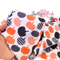 Patterned Pumpkin Liverpool Stretch Fabric