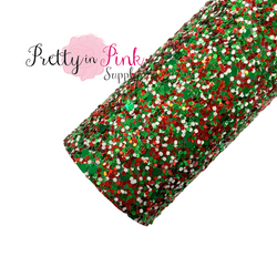 Holly Jolly Christmas Chunky Glitter Sheet
