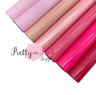 PINKS Glossy Fabric Sheets