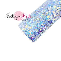 Frosted Snow Chunky Glitter Sheet