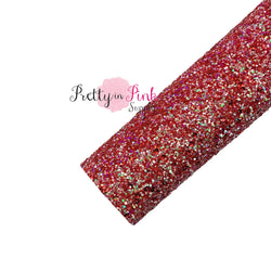Iced Cranberry Chunky Glitter Sheet