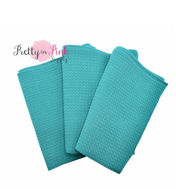 Teal Solid Stretch Liverpool Fabric