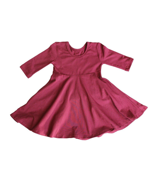 Burgundy Ballerina Dress