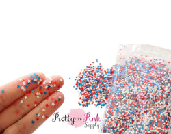 STAR Red/White/Blue Loose Glitter