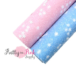 Baby Frosted Snowflake Chunky Glitter Sheet