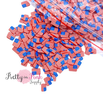 American Flag | Confetti Loose Clay - Pretty in Pink Supply