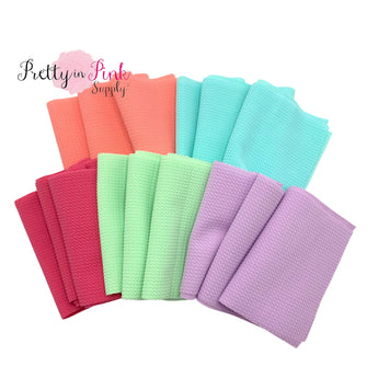 THE PASTELS Liverpool Fabric | 5 Variety Pack | Head Wrap SOLID Strip