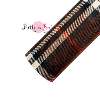 Brown/Red/White Plaid | Canvas Sheet - Pretty in Pink Supply