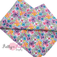 Polka Dot Spring Floral | 100% Cotton Fabric