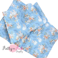 White Bunny Blossoms | 100% Cotton Fabric