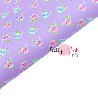 THIN Light Purple Blossom | Faux Leather Fabric Sheet