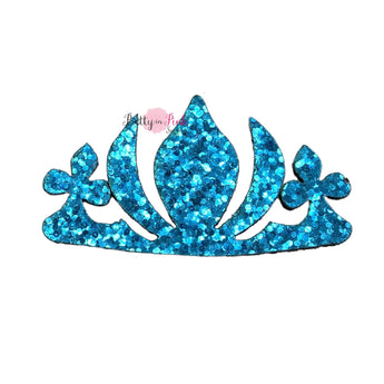 Bright Blue Crown | Chunky Glitter Felt