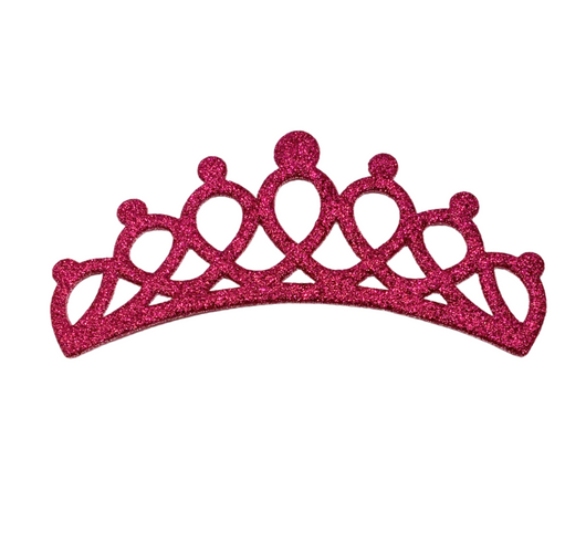 Large Flat Glitter Felt Crowns