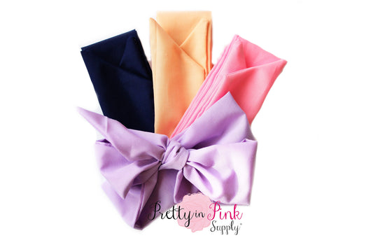 Solid Cotton Head Wraps-Untied - Pretty in Pink Supply
