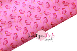 Pink Flamingo Fabric - Pretty in Pink Supply